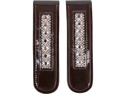 Ozdobná spona na boty či chapsy Sharina QHP, brown/silver