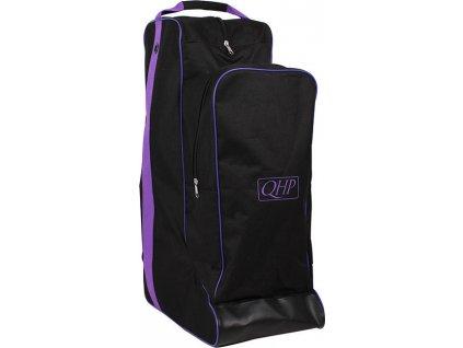 Taška na boty a helmu QHP, black/purple