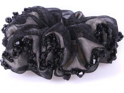Vlasová gumička Sparkle QHP, černá