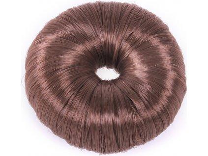 Gumička do vlasů Donut QHP, brown