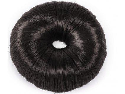 Gumička do vlasů Donut QHP, černá