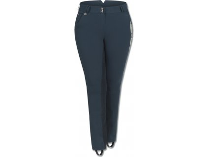 Jezdecké kalhoty Elena ELT s celokoženým sedem, plus-size, dámské, night blue