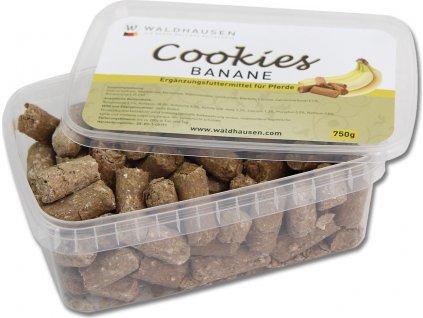 Pamlsky pro koně Cookies Waldhausen, 750 g, banánové