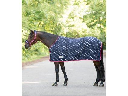 Deka odpocovací fleece Unicorn Waldhausen, night blue/azalea