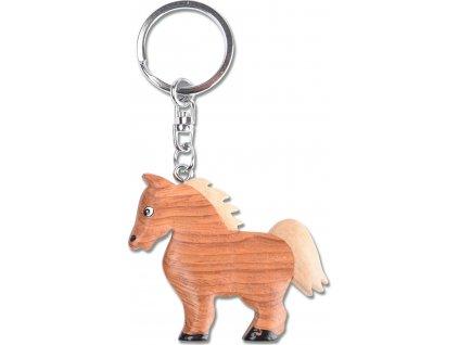 Přívěsek dřevěný na klíče kůň Waldhausen