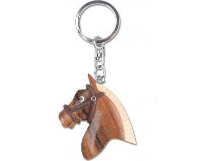 Přívěsek dřevěný na klíče hlava koně Waldhausen