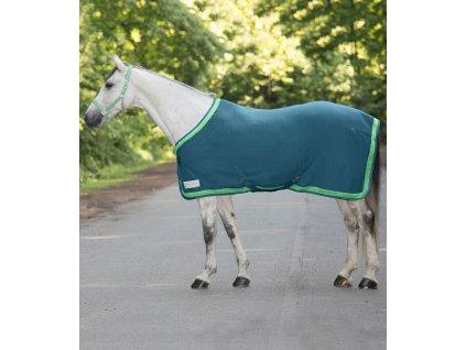 Odpocovací fleece deka ESPERIA Two WALDHAUSEN, BRILLIANT BLUE / PASTEL GREEN