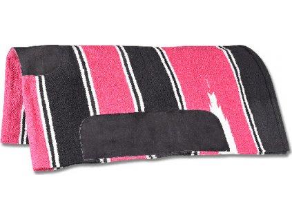 Westernová podsedlová dečka Navajo Waldhausen, pink/black