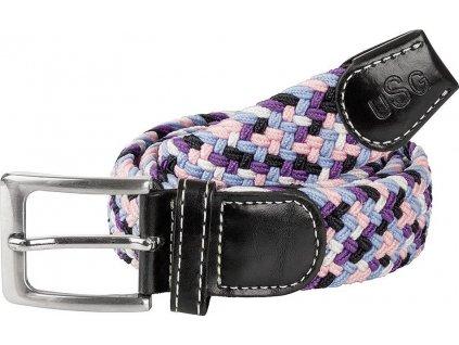 Pásek pletený Casual USG, dětský, black/rose/lilac/blue