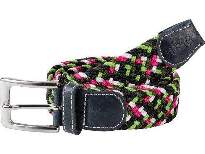 Pásek pletený Casual USG, dětský, navy/green/pink/white