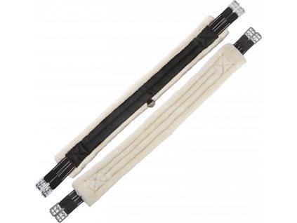 Podbřišník nylonový s beránkem USG, black/beige