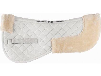 Umělý beránek pod sedlo USG, bílý/krémový