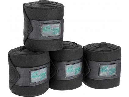 Bandáže fleecové 4ks CHIC USG, černé