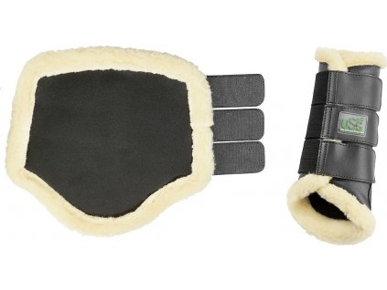Chrániče s umělým beránkem USG, černé