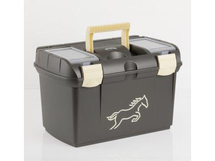 Pevný box na čištění USG metallic black/beige s koníkem