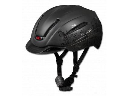ezdecká helma H12 SWING Ride&Bike, black mat/baroque