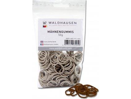 Gumičky na hřívu Waldhausen, 50 g, hnědé