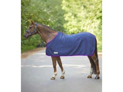 Deka odpocovací fleece Unicorn Waldhausen, night blue/lilac