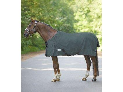 Výběhová deka fleece Economic Melange Waldhausen, grey