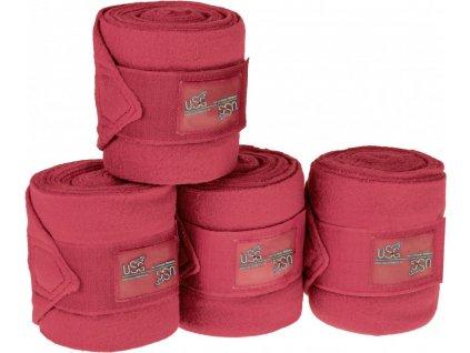 Bandáže fleecové 4ks CHIC USG, red