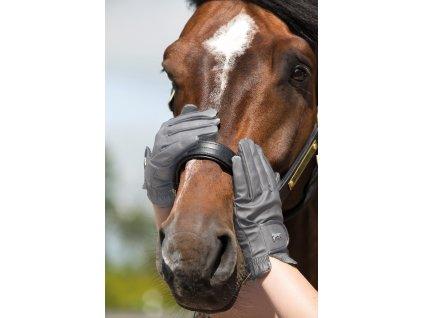 Rukavice Heritage Horseware, unisex, grey/carbon