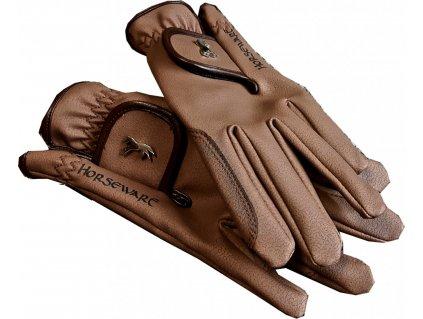 Rukavice Heritage Horseware, unisex, brown