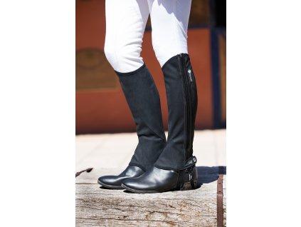Minichapsy Nubuck Horseware, unisex, standard, černé