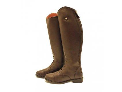 Vysoké jezdecké boty HORSEWARE, širší lýtko, pánské, brown