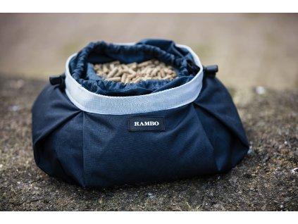 Taška na muesli pro koně Rambo Horseware, Navy/Silver