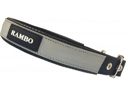 Obojek pro psy Rambo, black/reflective