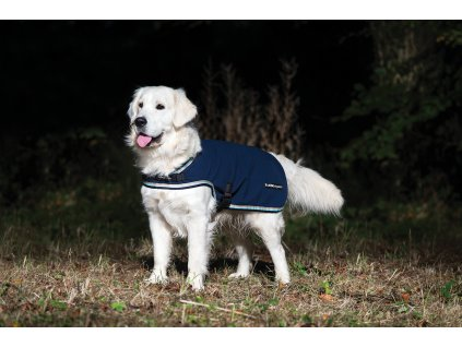 Deka pro psy Waterproof Fleece RAMBO, navy/beige/blue