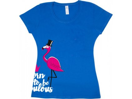 Tričko Fabulous Flamingo PFIFF, dětské, modré