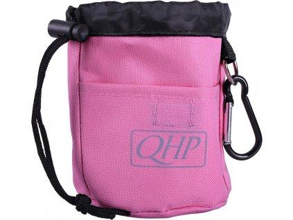Taška na pamlsky QHP, pink/grey