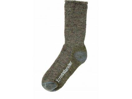 Ponožky Crosslander, pár, zimní, unisex, khaki