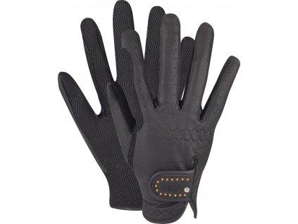 Jezdecké rukavice ELT, zimní, black/gold