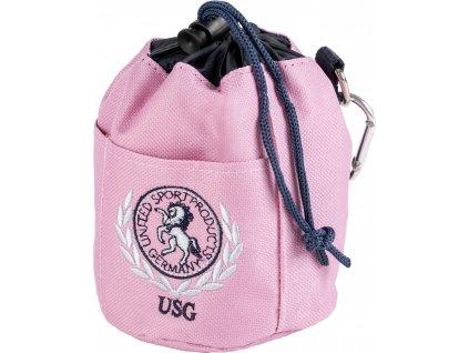 Taška na pamlsky USG, rose/navy