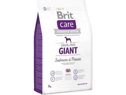 brit care dog grain free giant salmon potato 12kg