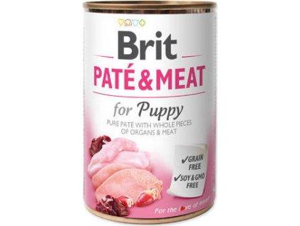 Konzerva pro psy Paté & Meat Puppy Brit, 400g