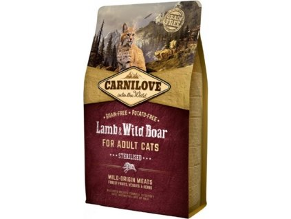 carnilove cat lamb and wild boar adult and sterilised