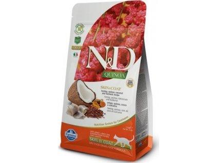 N&D GF Quinoa CAT Skin & Coat Herring & Coconut 300g