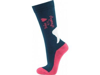 Ponožky jezdecké Soulhorse PFIFF, dark blue/pink/white