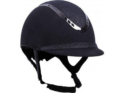 Helma jezdecká Glitz QHP, černá