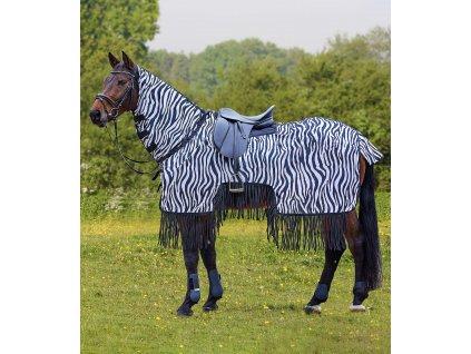 Síťovaná deka Zebra Waldhausen, s krkem, black/white