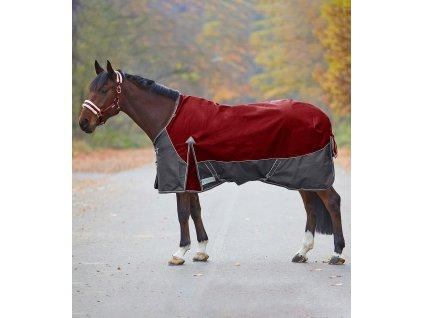 Deka výběhová Comfort 100g Waldhausen, ruby red/asphalt