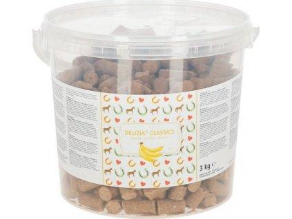 Pamlsky pro koně Delizia, 3kg, banánové