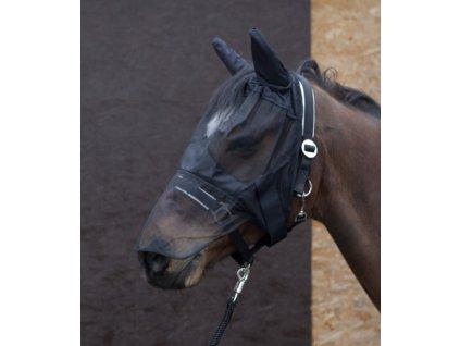 Maska proti hmyzu s ochranou uší a nozder PFIFF, černá