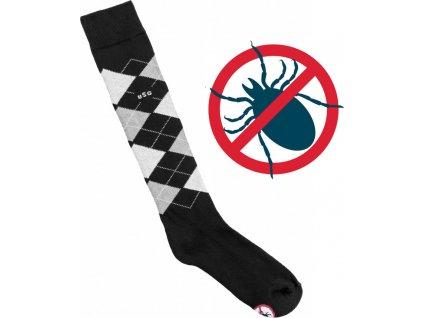 Podkolenky Caro Anti Tick USG, proti klíšťatům, black/d.grey/anth/grey