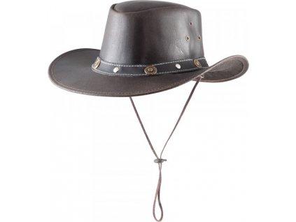 Klobouk kožený Texas PFIFF, brown