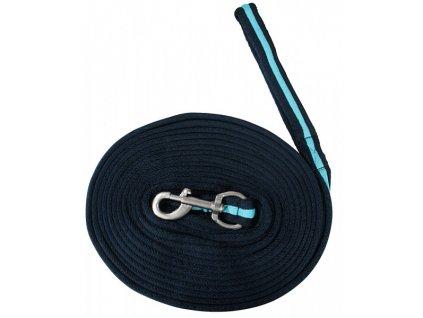 Lonž extra měkká 8,2m PFIFF, blue/turquoise