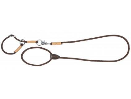 Set vodítko a obojek pro psy String PFIFF, brown/beige